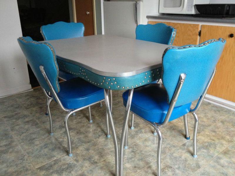 Retro Chrome Kitchen Table Chairs Retro Vintage Chrome Kitchen
