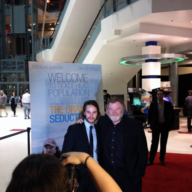The Grand Seduction Red Carpet. Taylor Kitsch and Brendan Gleeson. Photo Lili Hudecova.
