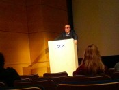 Antoine Picon Mellon lecture. Photo Kim Hachey.