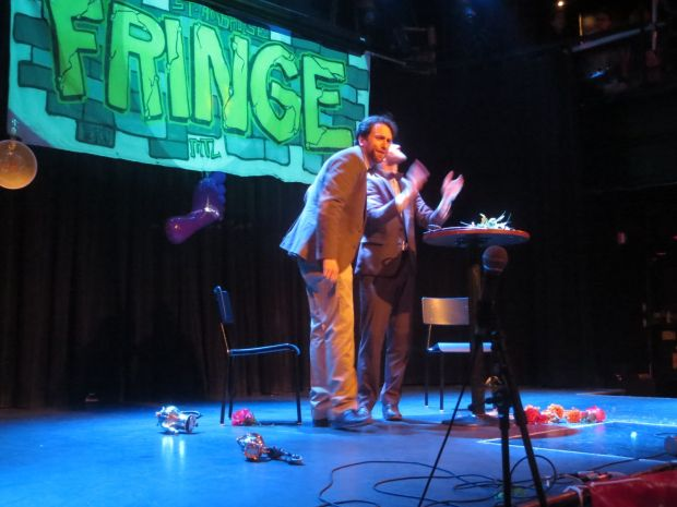 Montreal Fringe Festival Launch. Bandolier of Dreams. Photo Rachel Levine.