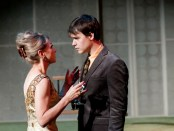 Brigitte Robinson (Mrs. Robinson) & Luke Humphrey (Ben Braddock). The Graduate. Segal Centre. Photo Andre Lanthier