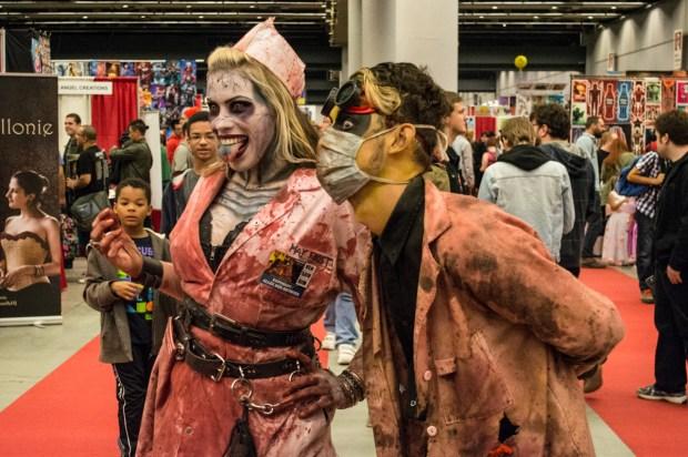 Zombies. Montreal Comiccon. Photo Jean Frederic Vachon.