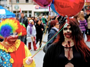 Clown. Zombie Walk. Montreal. Photo Michael Bakouch.