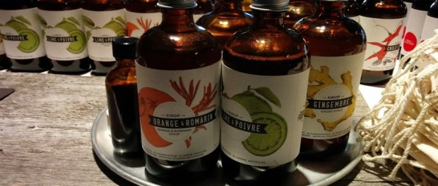 Artisanal Syrup Bottles. Les Charlatans. Photo Esther Szeben.