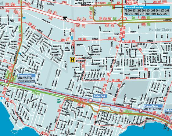 bus routes west island