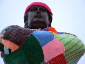 llouis cyr yarn bomb. yiara magazine. Photo by Zara Domingues
