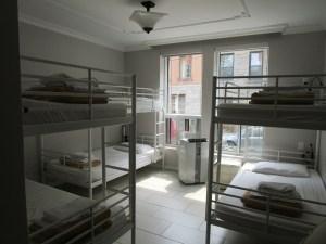 M Hostel Montreal. room. Photo Rachel Levine.