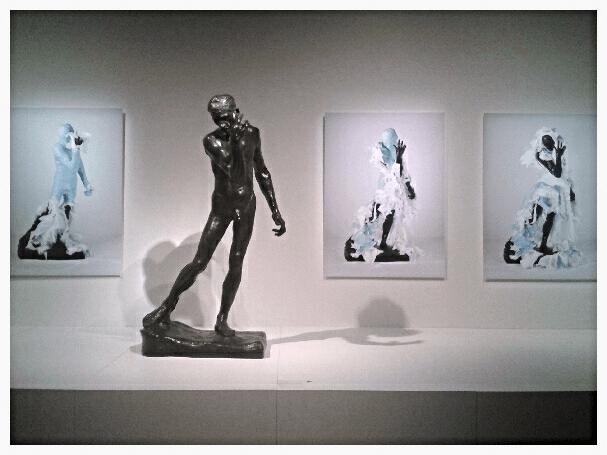 Adad Hannah's Unwrapping Rodin. Montreal Museum of Fine Arts. Photo Cassandra Marsillo.