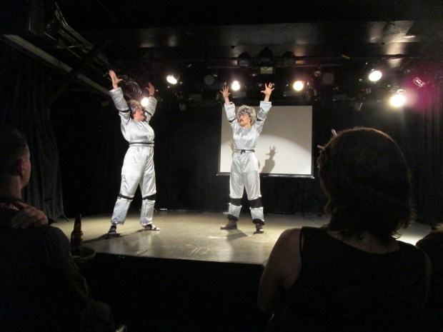 Mark Twain in the Year 3000/ Einstein in Space. Fringe Festival 2015. Photo Rachel Levine.