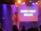 Jon Bennett. It's Rabbit Night. Fringe Festival. Photo Rachel Levine