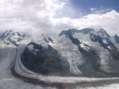 View from the top of the Gornergrat Ride – 3136 meters above sea level