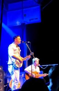 Elliott Brood: Mark Sasso (lead vocals) and Casey Laforet (guitar). Photo by Stephanie Weiner