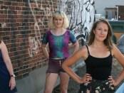 Ladyfest. Katie Leggitt, Lar Vi, Erin Hall, and Lise Vigneault