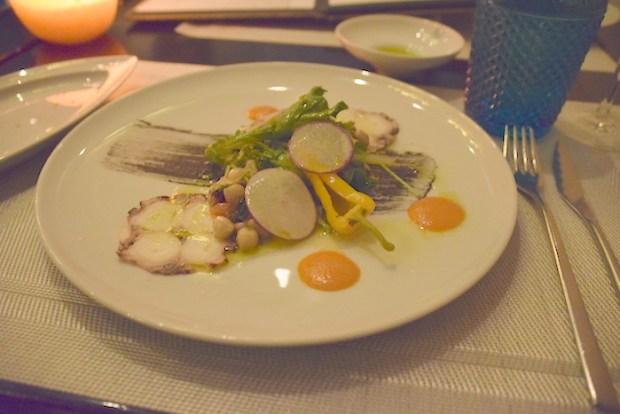 Octopus salad. Helena. Montréal à Table. Photo Nicole Yeba.