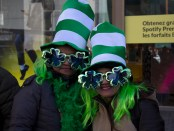 St. Patrick's Day Parade. St. Catherine Street. 2016. Photo Yolanda Marie Ruzilo