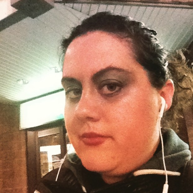 Clavis Argentum. Fringe Festival 2016. Angela Potvin in makeup.