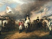 "John Trumbull, ""The Surrender of Lord Cornwallis"", oil on canvas, 1820. Currently in the US Capitol, Washington DC."