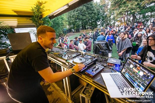 DJ Branko – Piknic Électronik – Dimanche 2 octobre. Photo : Peter Ryaux-Larsen