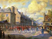 Artistic depiction of the Capitulation of Montreal. c. 1800. Artist unknown. Source: Virtual Museum of Canada.