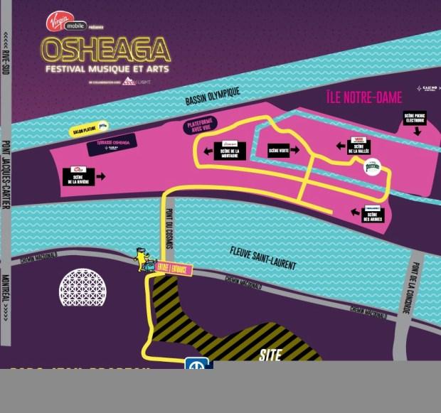 Osheaga Map 2017