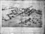 Artistic depiction of the Battle of Odelltown by Edgar Gariépy (c. 1930). Source: Bibliothèque et Archives nationales du Québec/SSS1917.