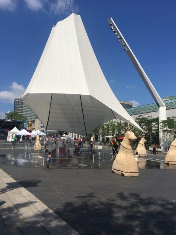 Tipi First People's Festival. Place des Arts. Photo Rachel Levine