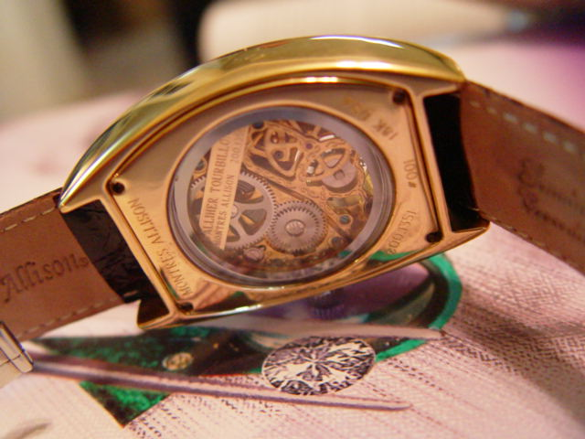 Montres Allison gold tourbillon
