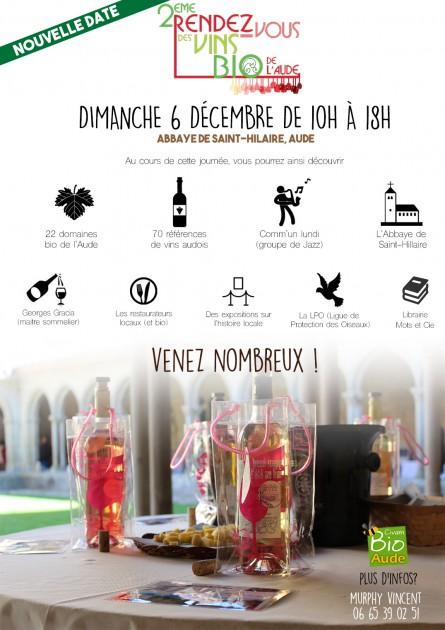 Second Rendez-vous des vins bio - Dimanche 6 décembre2