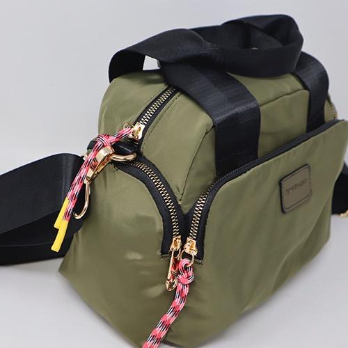 bolso de nylon verde