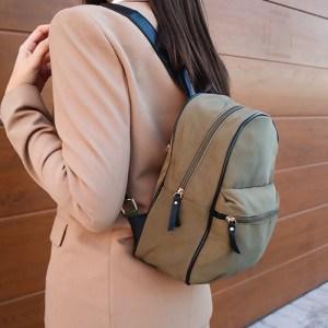 mochila de nylon de mujer