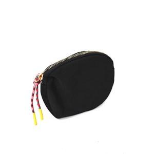 monedero de nylon negro