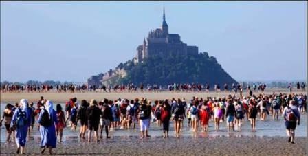 Pèlerinage au Mont-Saint-Michel