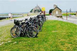 Mont-Saint-Michel Parking des vélos