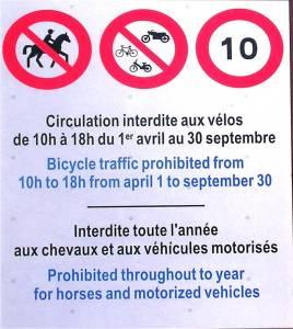 Mont-Saint-Michel Règlement pour les vélos