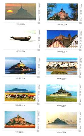 Mont-Saint-Michel Collector 10 timbres en 2011