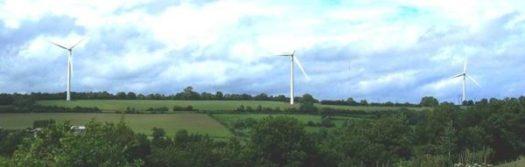 Le Mont-Saint-Michel et les éoliennes