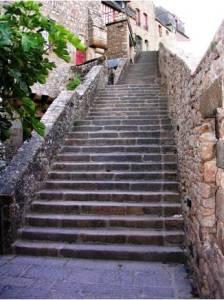 Escalier du tour des remparts Mont-Saint-Michel