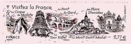 Timbre Mont-Saint-Michel Europa en 2012