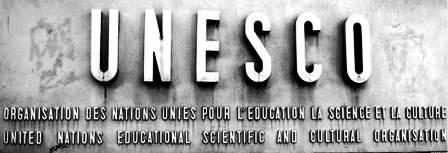 Plaque de l'UNESCO à Paris