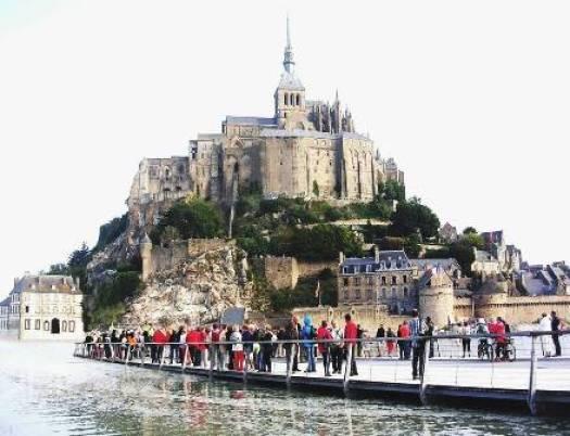 Grande marée du Mont-Saint-Michel