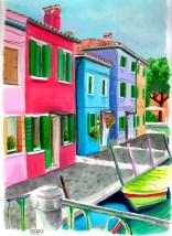 Canal de Burano. Vèneto (Italia)