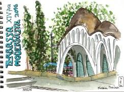 Detall de la Masia Freixa. XIV fira Modernista de Terrassa 2016. | Detalle de la Masia Freixa. XIV Fira Modernista de Terrassa. | Masia Freixa detail. XIV Modernista Fair, Terrassa.