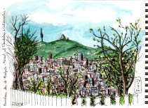 Vista de Barcelona, el Tibidabo i Collserola des de Montjuïc. | Vista de Barcelona, el Tibidabo i Collserola desde Montjuïc. | Barcelona, Tibidabo and Collserola view from Montjuïc.