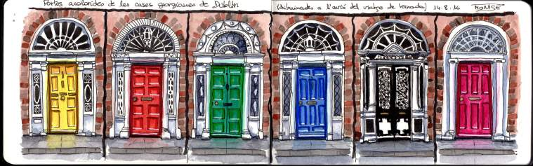 Portes de Dublín. | Puertas de Dublín. | Doors of Dublin.