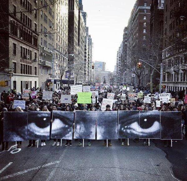 The Eyes of Eric Garner. Millions March NYC. December 13, 2014