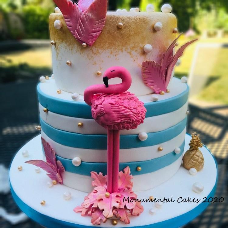 Flamingo & Pearls