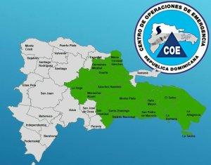 COE emite alerta verde en 14 provincias