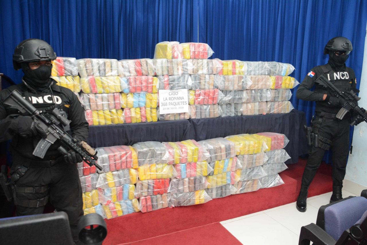 DNCD decomisa 368 paquetes de drogas en La Romana