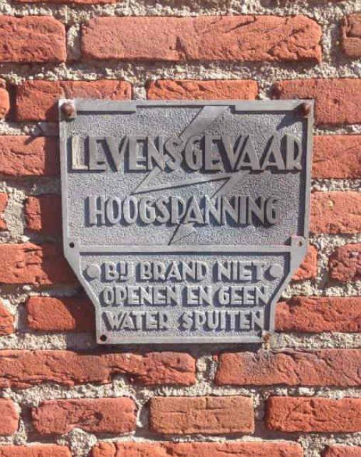 B383 De Ruijterlaan, Bodegraven, trafo huisje opschrift