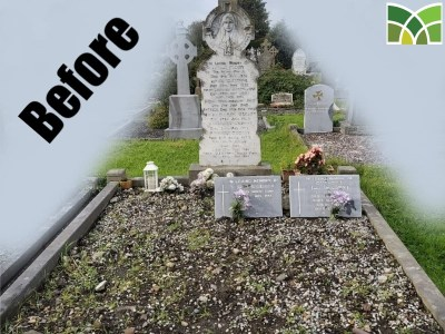Before Grave Restoration Service - Moloney Monuments - Limerick